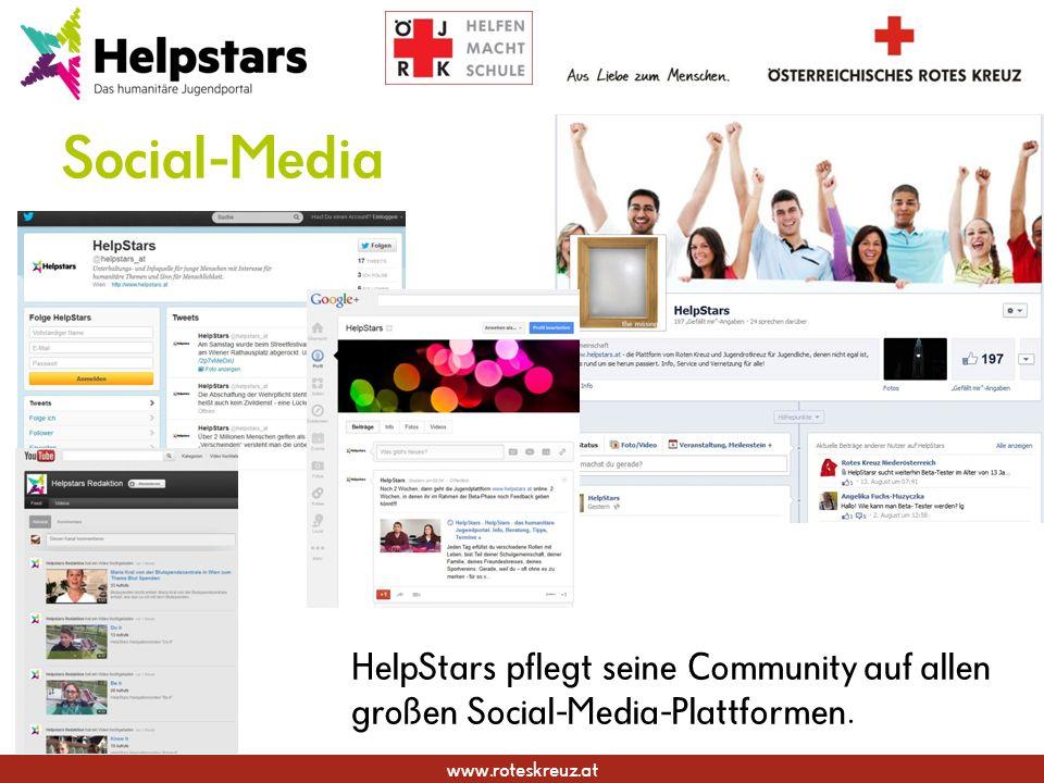 www.roteskreuz.at Social-Media HelpStars pflegt seine Community auf allen großen Social-Media-Plattformen.