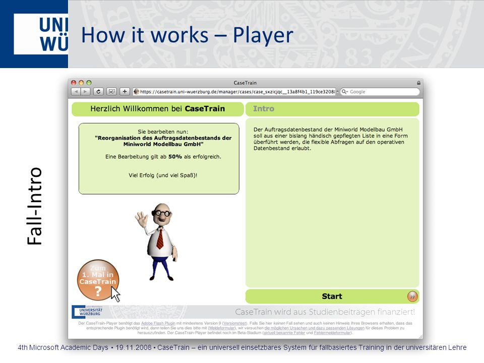 How it works – Player Fall-Intro