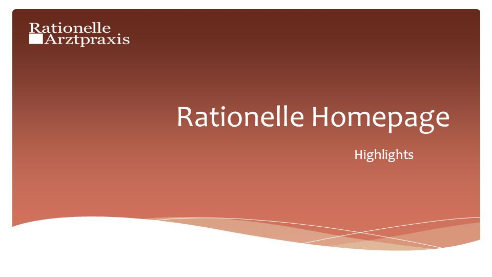 Rationelle Homepage Highlights