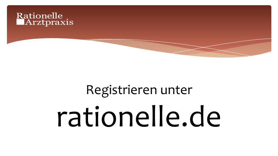 Registrieren unter rationelle.de