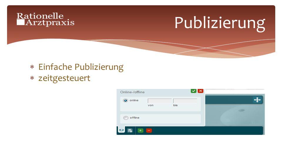 Einfache Publizierung zeitgesteuert Publizierung