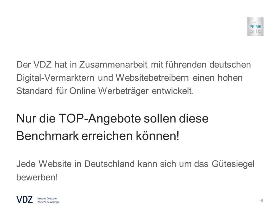 Der VDZ hat in Zusammenarbeit mit führenden deutschen Digital-Vermarktern und Websitebetreibern einen hohen Standard für Online Werbeträger entwickelt.