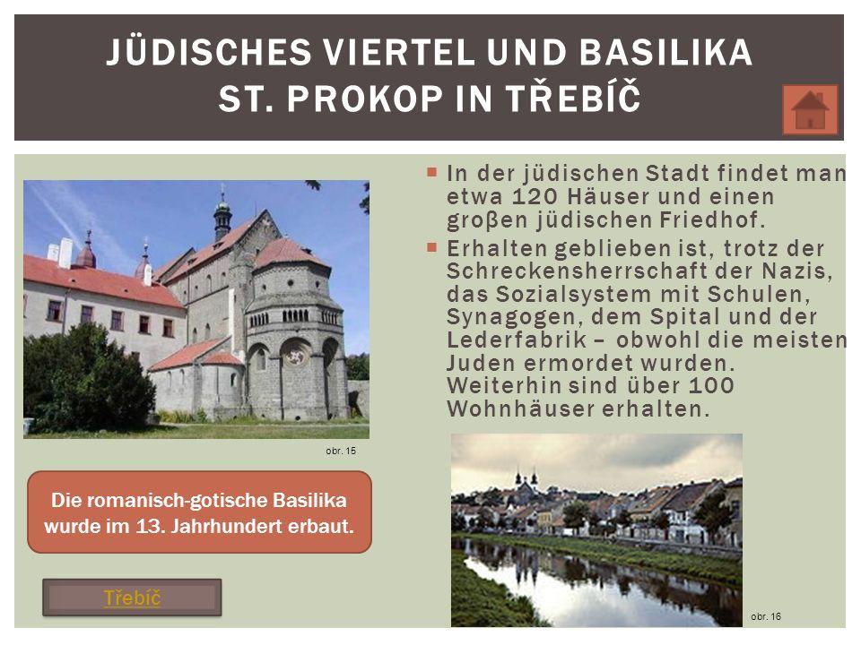 In der jüdischen Stadt findet man etwa 120 Häuser und einen groβen jüdischen Friedhof.