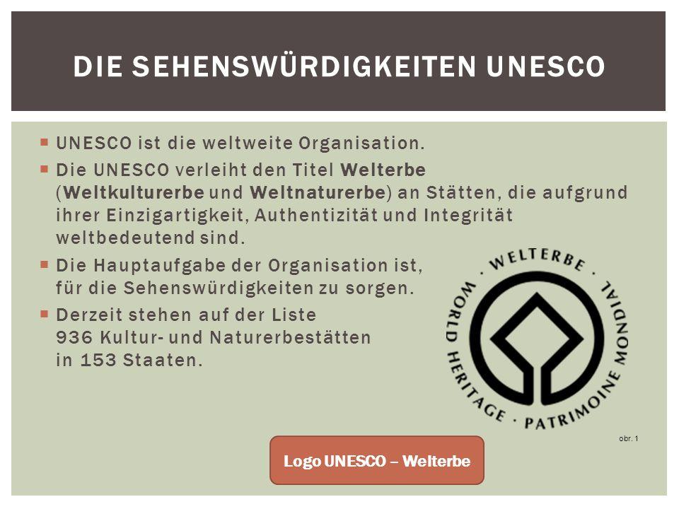 UNESCO ist die weltweite Organisation.