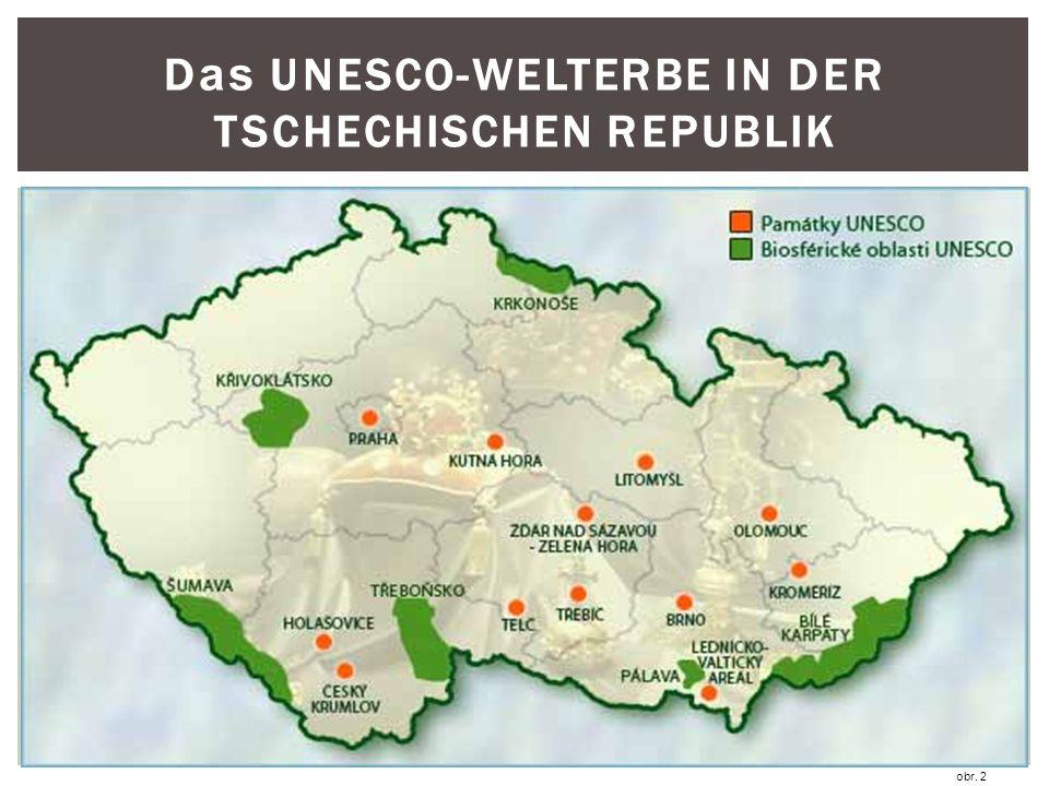 D as UNESCO-WELTERBE IN DER TSCHECHISCHEN REPUBLIK obr. 2