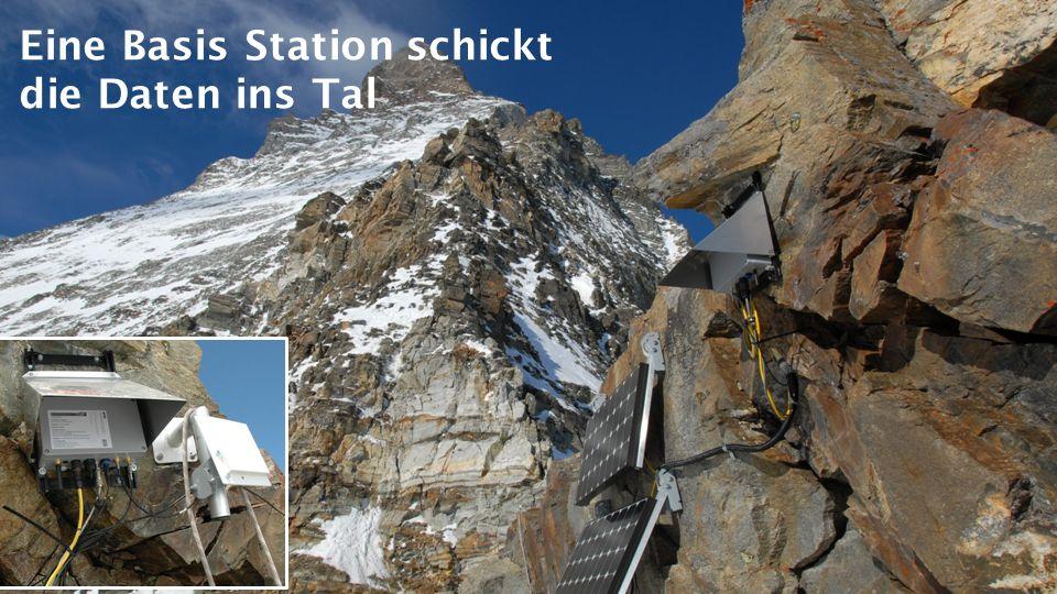 Eine Basis Station schickt die Daten ins Tal