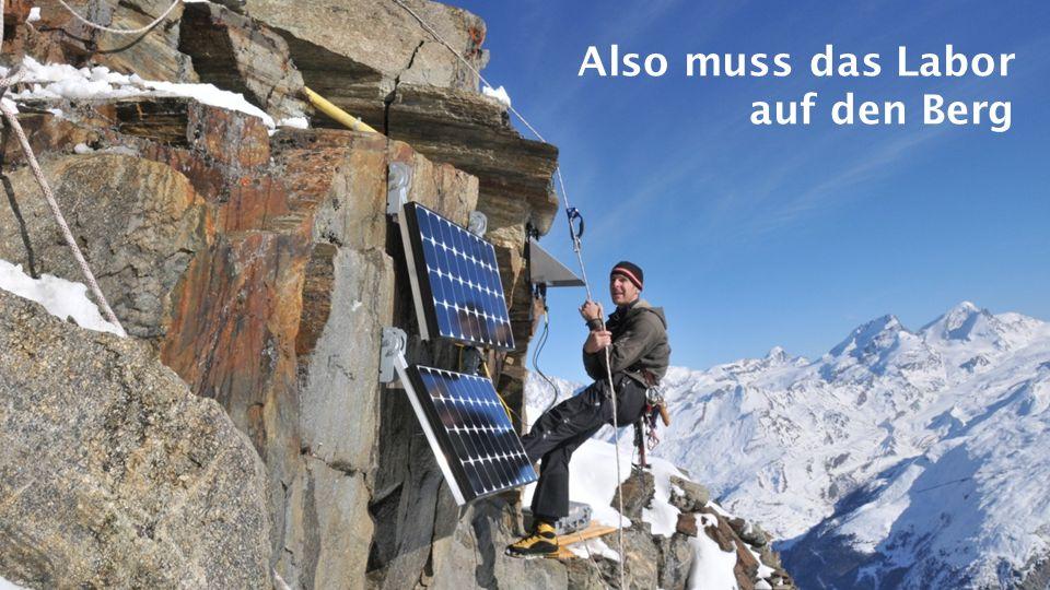 Unsere Versuchsfelder am Jungfraujoch und Matterhorn