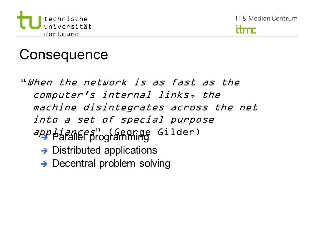 technische universität dortmund Consequence When the network is as fast as the computer's internal links, the machine disintegrates across the net int