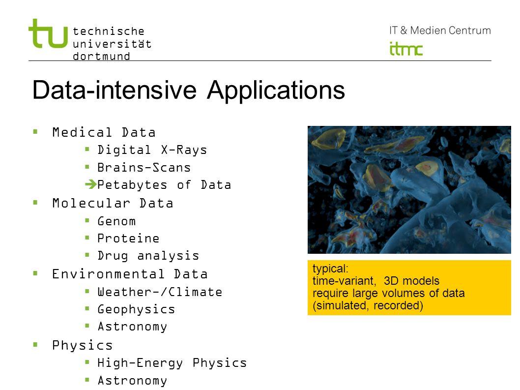 technische universität dortmund Data-intensive Applications Medical Data Digital X-Rays Brains-Scans Petabytes of Data Molecular Data Genom Proteine D