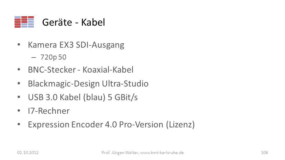 Geräte - Kabel Kamera EX3 SDI-Ausgang – 720p 50 BNC-Stecker - Koaxial-Kabel Blackmagic-Design Ultra-Studio USB 3.0 Kabel (blau) 5 GBit/s I7-Rechner Ex