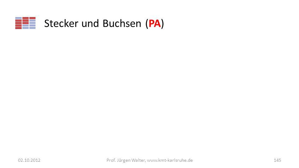 Stecker und Buchsen (PA) 02.10.2012Prof. Jürgen Walter, www.kmt-karlsruhe.de145