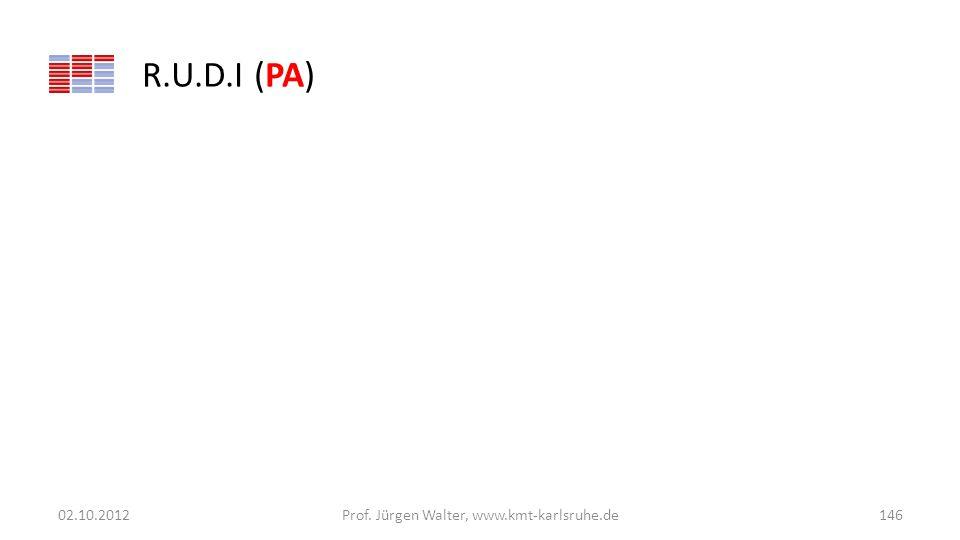 R.U.D.I (PA) 02.10.2012Prof. Jürgen Walter, www.kmt-karlsruhe.de146