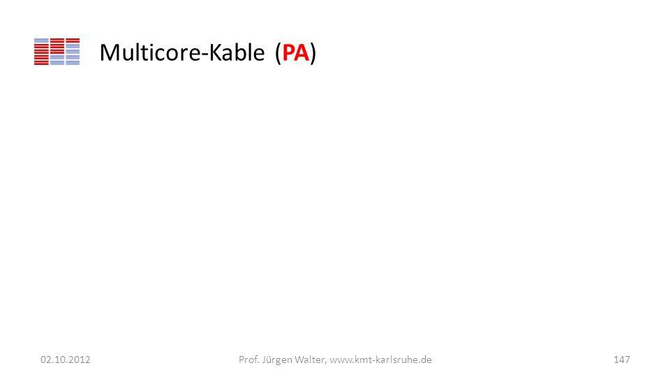 Multicore-Kable (PA) 02.10.2012Prof. Jürgen Walter, www.kmt-karlsruhe.de147