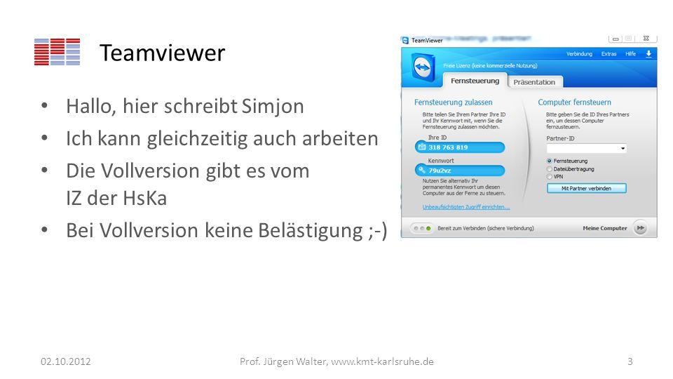 Fourierreihe 02.10.2012Prof. Jürgen Walter, www.kmt-karlsruhe.de54