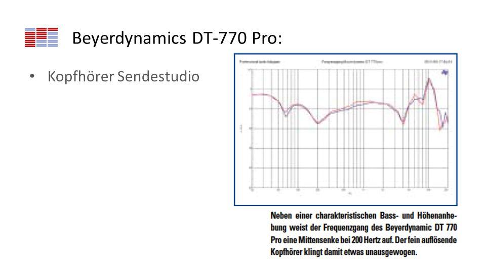 Beyerdynamics DT-770 Pro: Kopfhörer Sendestudio