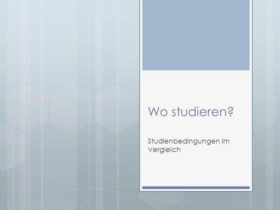 Inhalt Allgemeine Studienbedingungen Unistadt-Ranking Aus Fachhochschule wird Hochschule Hochschule vs.