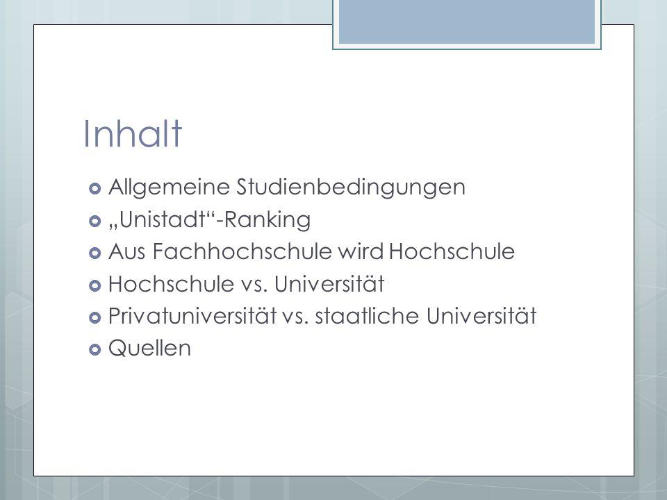 Allgemeine Studienbedingungen 1.
