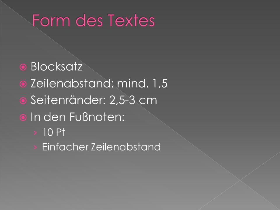Blocksatz Zeilenabstand: mind.