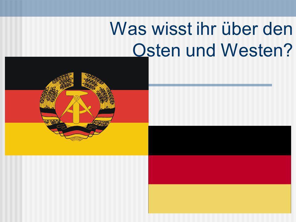 Wann gab es West und Ost Deutschland.Von 1949 bis 1989 Am 7.