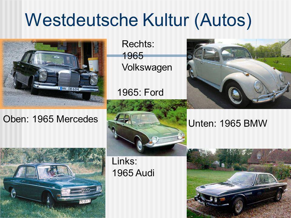 Ostdeutsche Kultur (Autos) Der Wartburg- von 1956- 1991 Der Trabi- von 1957- 1991 1965 Skoda