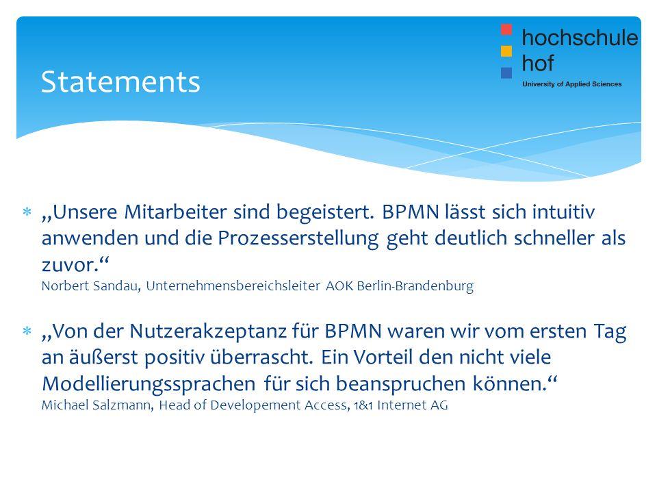Unsere Mitarbeiter sind begeistert. BPMN lässt sich intuitiv anwenden und die Prozesserstellung geht deutlich schneller als zuvor. Norbert Sandau, Unt