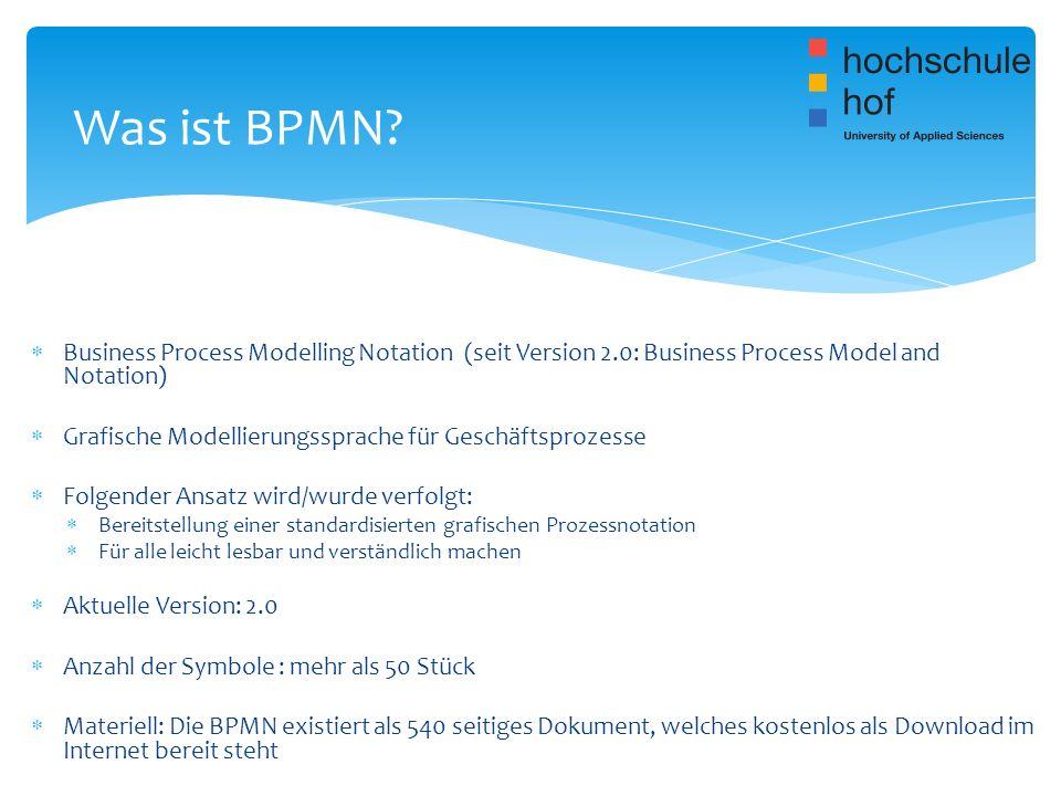 BPMN wird derzeit in der öffentlichen Verwaltung noch nicht als Standard verwendet Die Einführung geplant haben aber z.B.