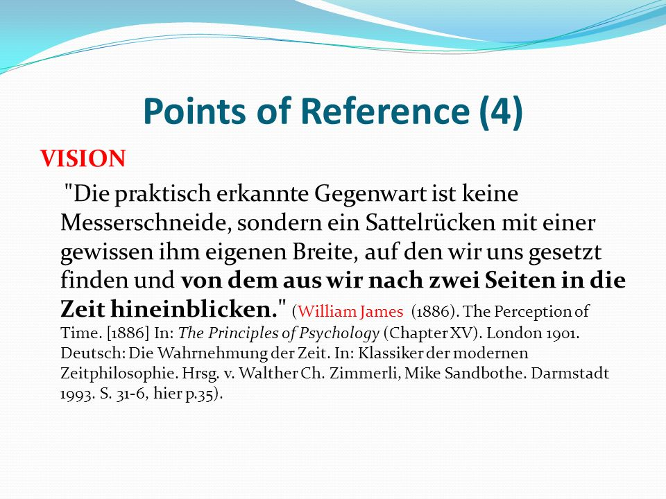 Points of Reference (4) VISION