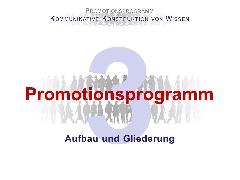 3 Promotionsprogramm Aufbau und Gliederung