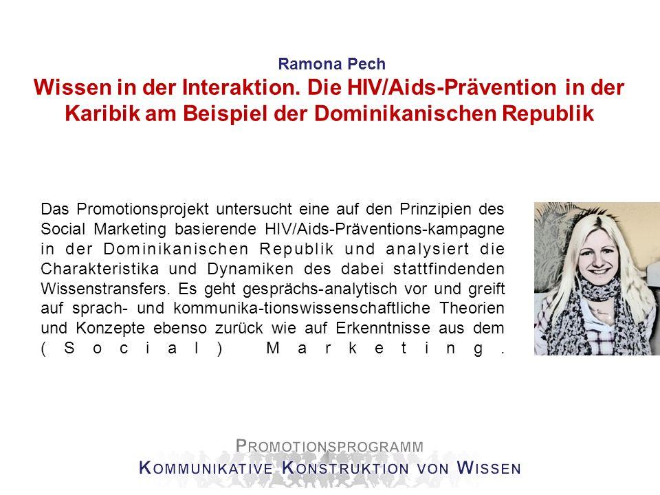 Alexandra Groß Medizinische Kommunikation mit HIV-Patienten in Deutschland - Eine gesprächsanalytisch-ethnographische Untersuchung Das Dissertationsprojekt fokussiert die Interaktion zwischen Ärzt/innen und HIV-Patient/innen.