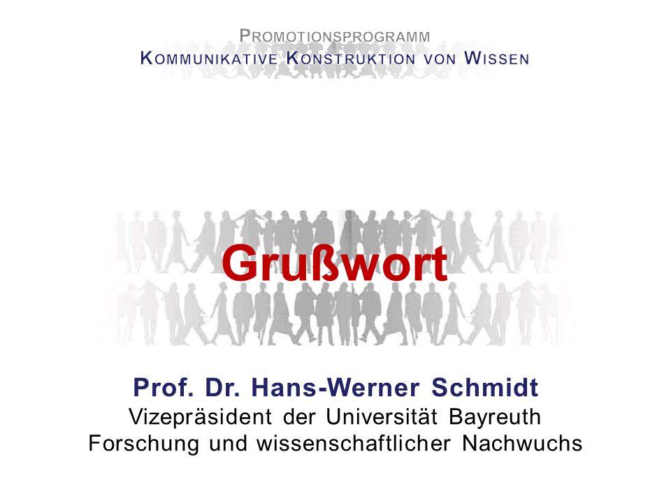 Grußwort Prof. Dr. Ludwig Haag Dekan der Kulturwissenschaftlichen Fakultät