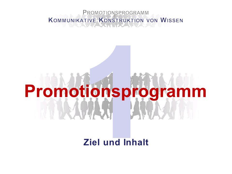 1 Promotionsprogramm Ziel und Inhalt