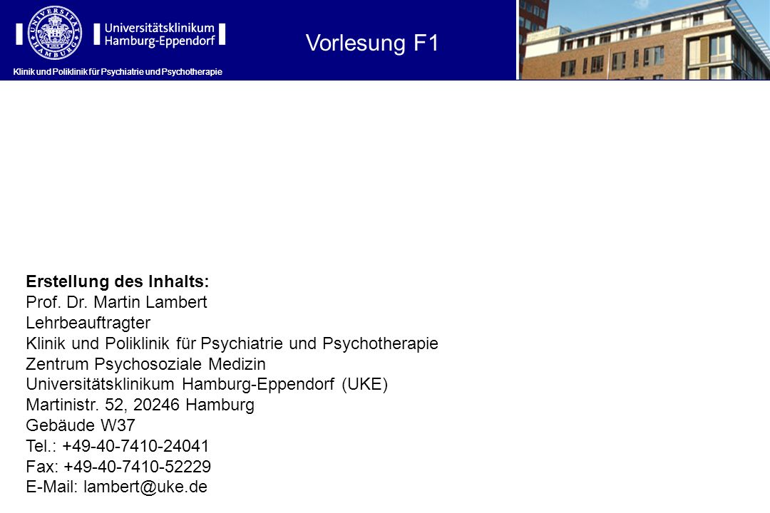 Klinik und Poliklinik für Psychiatrie und Psychotherapie Stuporöse Zustände (V) Bei der katatonen Schizophrenie kommen psychomotorische Hemmung, zumeist mit Mutismus und Stupor vor.