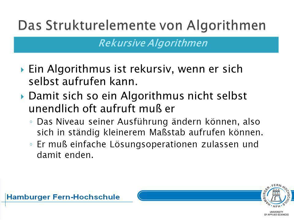 Zusammenfassende Fragen Welche Darstellungsmittel für Algorithmen kennen Sie.