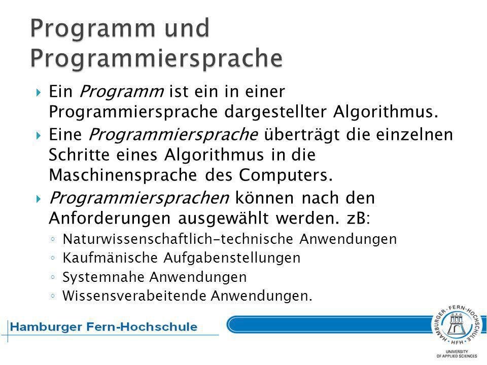 Im Gegensatz zur Algorithmierung (Programmierung im Großen), wird bei der Programmierung im Kleinen je nach Programmiersprache der Algorithmus schrittweise verfeinert.