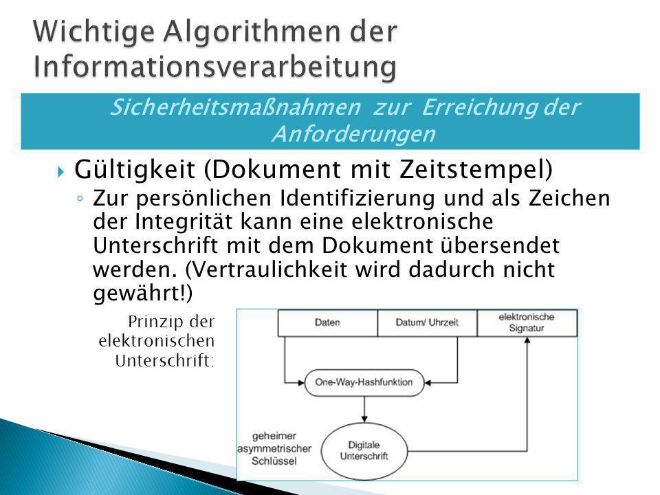 Verschlüsselungsverfaheren Dechiffrierung ist die inverse Operation der Chiffrierung Je nach Art der Schlüssel unterscheidet man: Symmetrische Verfahren Asymmetrische Verfahren