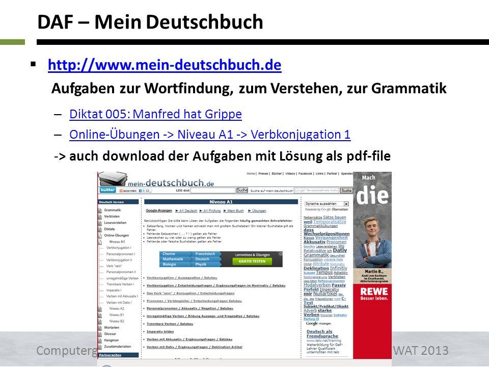 http://www.aufgaben.schubert-verlag.de Aufgaben zur Wortfindung, zum Verstehen, zur Grammatik – A1 Online_Übungen - Kapitel 2 -> Gegenteile A1 Online_