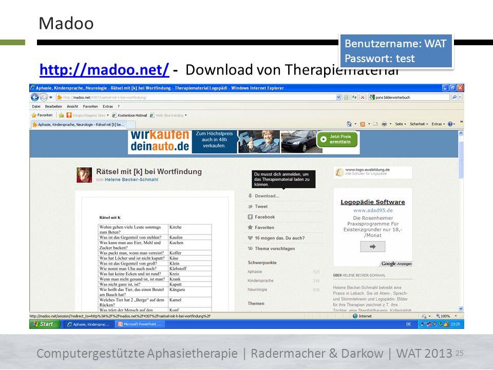 http://bildwoerterbuch.pons.euhttp://bildwoerterbuch.pons.eu - Bilder ausdrucken oder online nutzen Computergestützte Aphasietherapie | Radermacher &