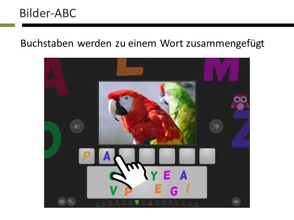 Jede Kategorie enthält 16 Bilder Bilder-ABC