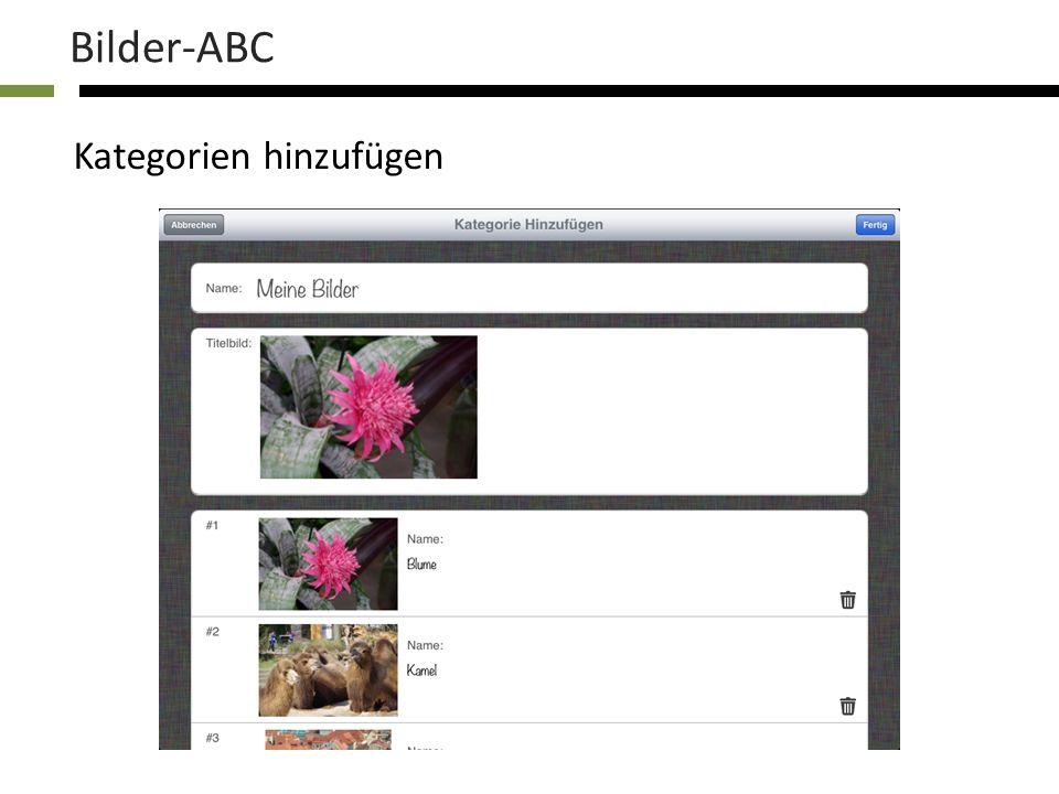 Bilder-ABC Optionen einstellen