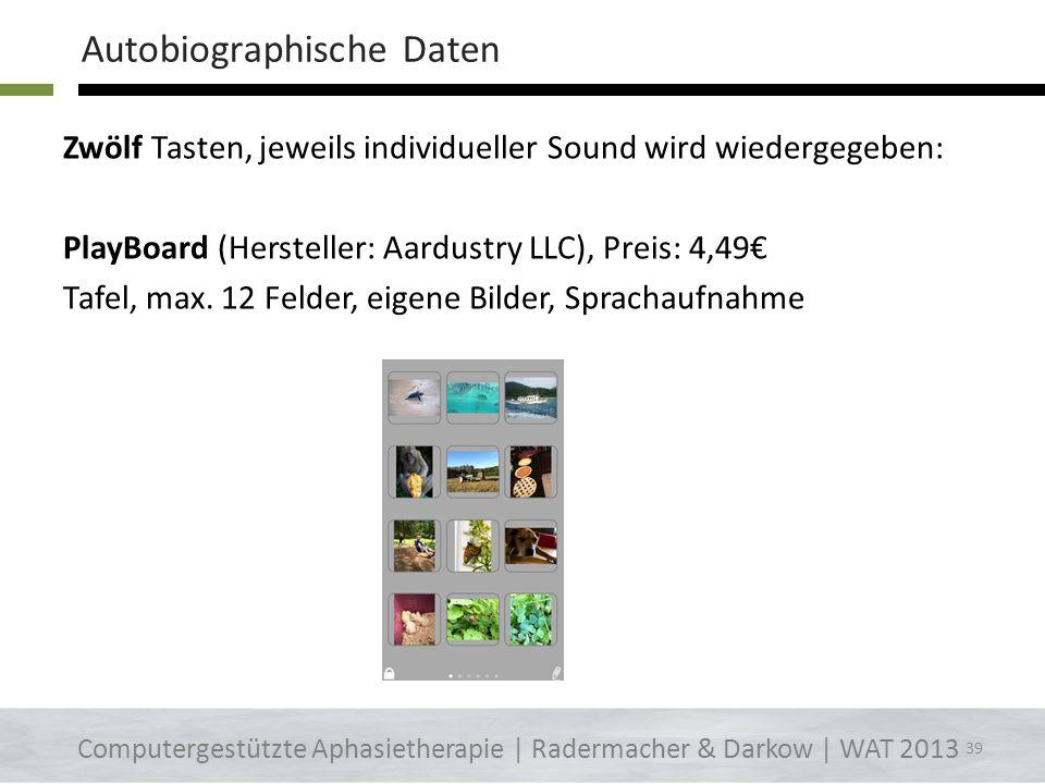 Eine Taste, individueller Sound wird wiedergegeben: iSpeak Button (Hersteller: Goatella), Preis: 3,59 PlayButton (Hersteller: Aardustry LLC), Preis: g