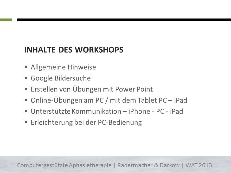 Download Sie können sich diese Inhalte herunterladen: - Video-Anleitung zu PowerPoint 2003 + 2007 - Diese Präsentation Auf: www.aphasie-aachen.dewww.a