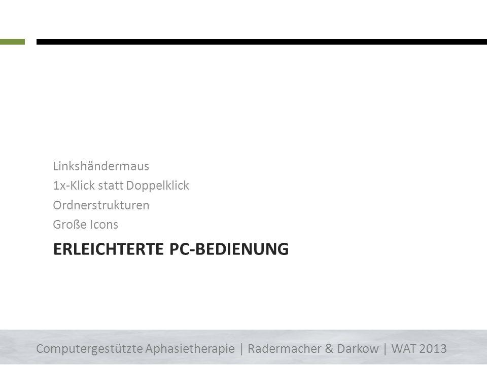 Lese-Übung – Worddokumente –> App Pages iPhone/iPad – Pages Computergestützte Aphasietherapie | Radermacher & Darkow | WAT 2013