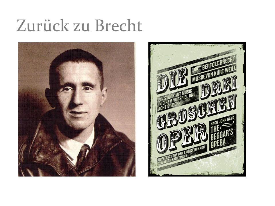 Zurück zu Brecht