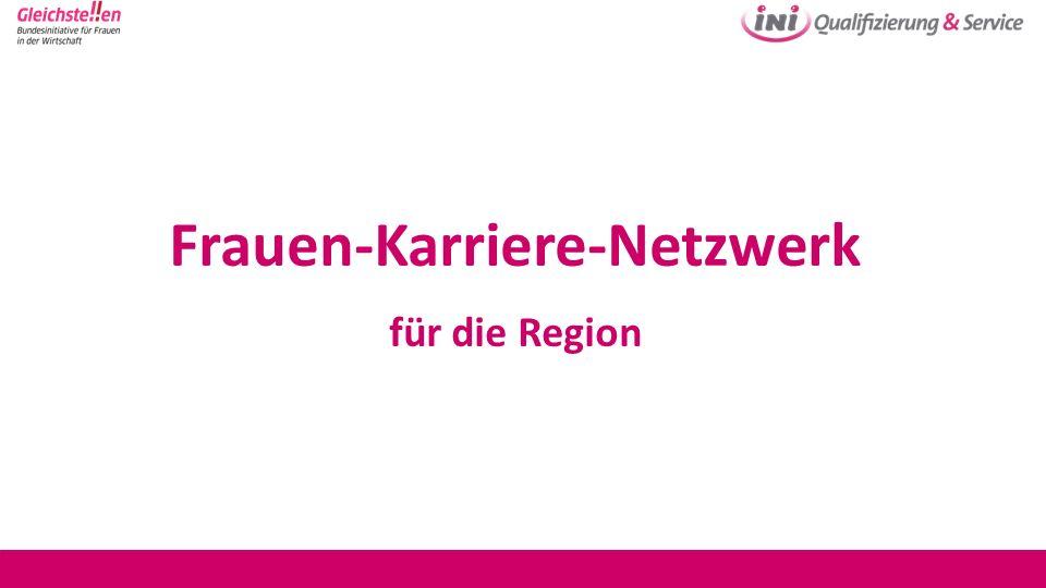 Frauen-Karriere-Netzwerk für die Region