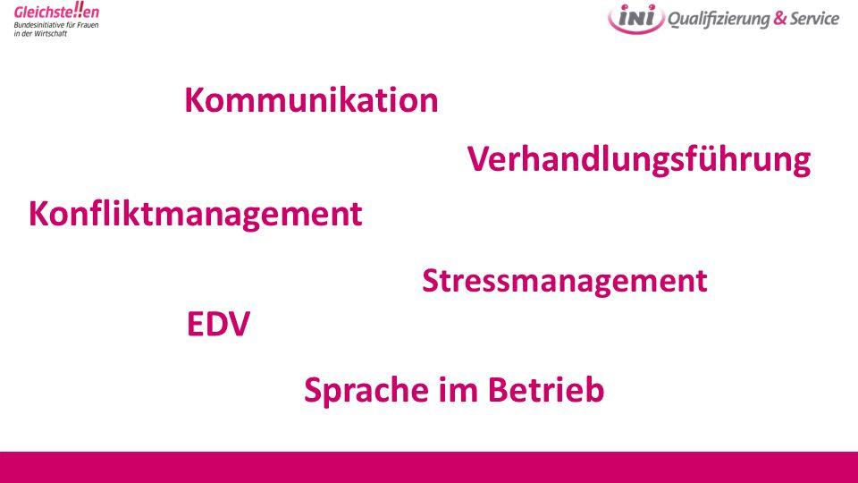 Konfliktmanagement Stressmanagement Kommunikation Sprache im Betrieb EDV Verhandlungsführung