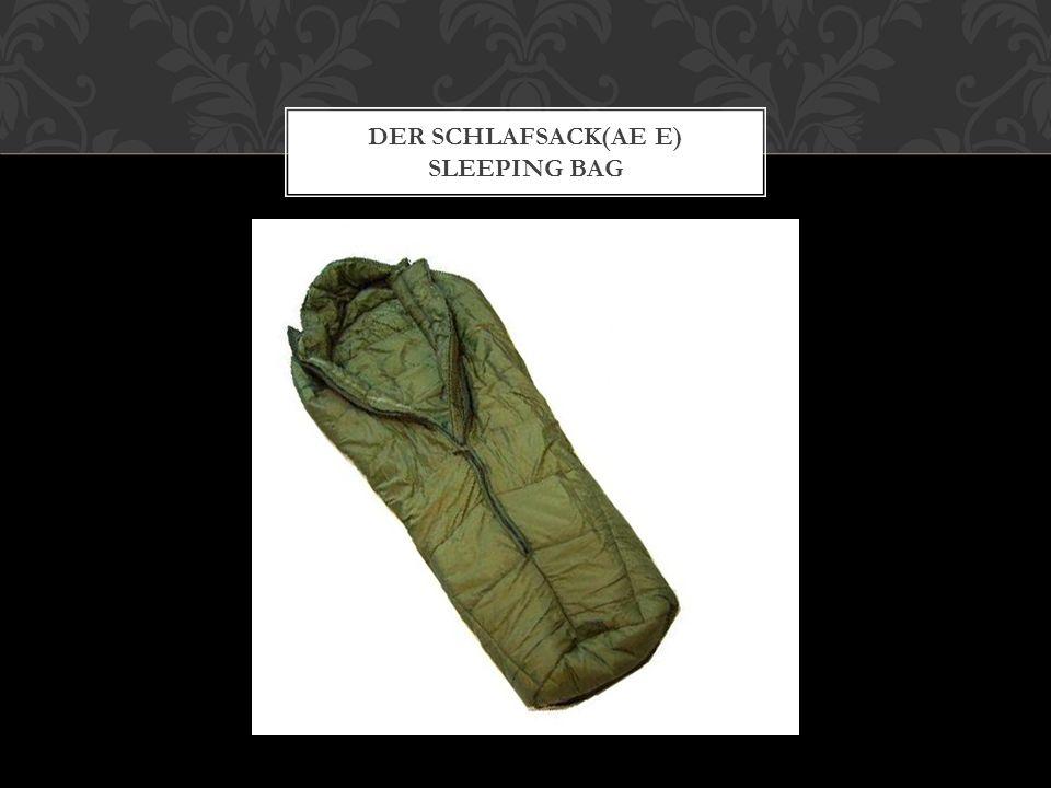 DER SCHLAFSACK(AE E) SLEEPING BAG
