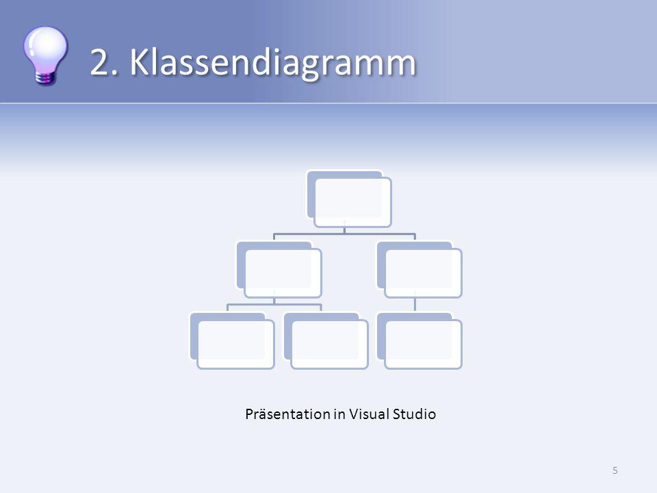 2. Klassendiagramm 5 Präsentation in Visual Studio