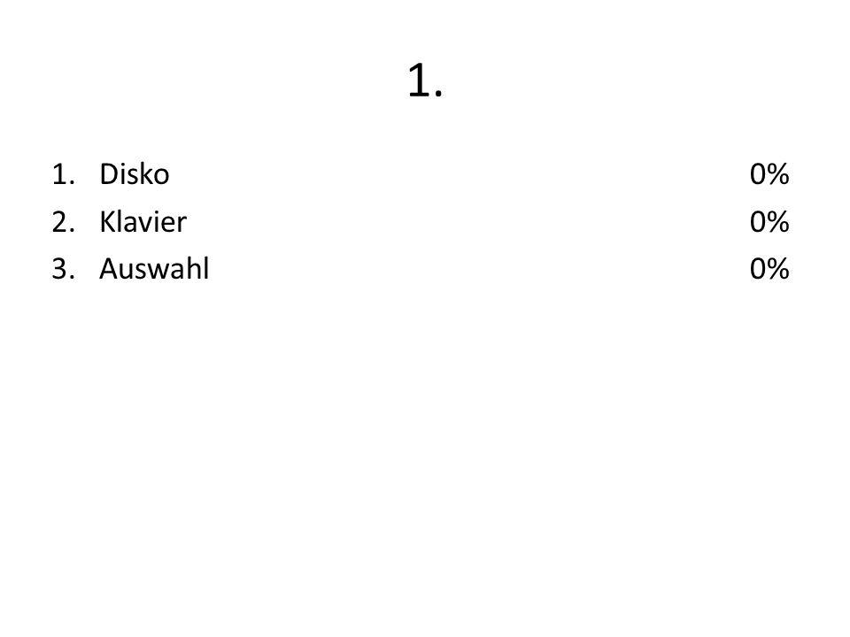 1. 1.Disko 2.Klavier 3.Auswahl 0%