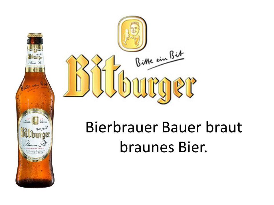 Bierbrauer Bauer braut braunes Bier.