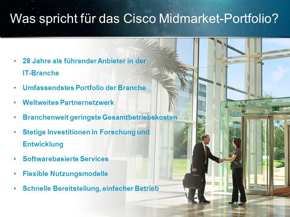 © 2013 Cisco und/oder Partnerunternehmen. Alle Rechte vorbehalten. Vertrauliche Informationen von Cisco 12 28 Jahre als führender Anbieter in der IT-B